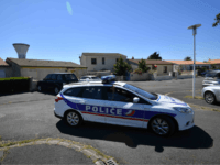 Police officers drive a car on June 25, 2018 in Tonnay-Charente near the house of Guy S., the alleged leader of a group linked with the ultra right 'AFO' (Action of Operational Forces) who was arrested along with 9 other people in France for allegedly planning attacks against Muslims in …