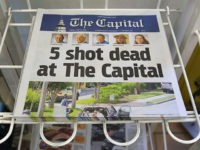 ANNAPOLIS, MD - JUNE 29: Today's edition of the the Capital Gazette for sale on a newspaper stand, on June 289, 2018 in Annapolis, Maryland. Yesterday 5 people were shot and killed in the daily newspapers newsroom by a lone gunman. Jarrod Ramos of Laurel Md. has been arrested and …