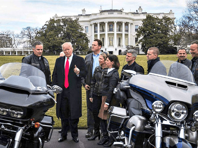 Trumped revved up over Harley Davidson