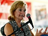In this July 27, 2017, file photo Mississippi Commissioner of Agriculture and Commerce Cindy Hyde-Smith speaks at the Neshoba County Fair in Philadelphia, Miss. The state's governor will appoint Hyde-Smith as Mississippi's first female member of Congress to fill the Senate vacancy that will soon be created when Sen. Thad …