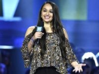 Jazz Jennings speaks at WE Day California at the Forum on Thursday, April 7, 2016, in Inglewood, Calif. (Photo by Chris Pizzello/Invision/AP)
