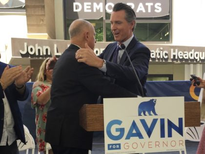 Jerry Brown and Gavin Newsom (Jonathan J. Cooper / Associated Press)