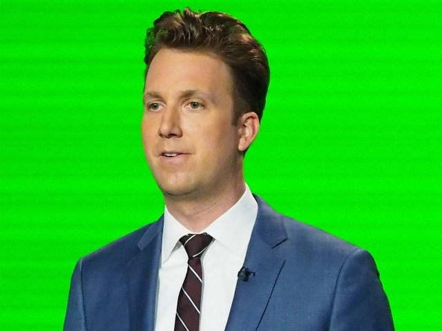 "Correspondent Jordan Klepper, ""The Daily Show with Trevor Noah Presents The 2016 Democratic National Convention; Let's Not Get Crazy"" speaks from the Annenberg Center for the Performing Arts on July 26, 2016 in Philadelphia, Pennsylvania. (Photo by Paul Zimmerman/Getty Images for Comedy Central)"