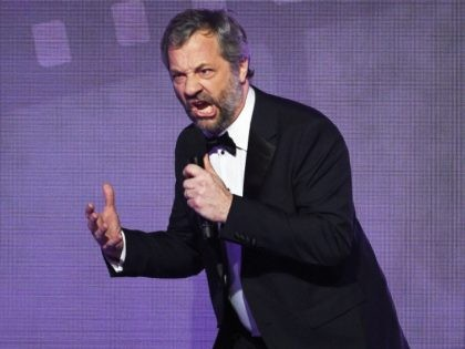 Host Judd Apatow speaks onstage during the 70th Annual Directors Guild Of America Awards at The Beverly Hilton Hotel on February 3, 2018 in Beverly Hills, California. (Photo by Kevork Djansezian/Getty Images for DGA)