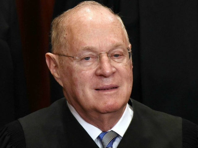Associate Justice Anthony M. Kennedy poses for a group photograph at the Supreme Court building on June 1 2017 in Washington, DC. Credit: Olivier Douliery/MediaPunch /IPX via AP