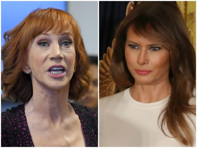 Kathy Griffin calls Melania a 'feckless complicit piece of s