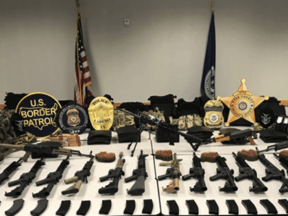 Laredo Weapons Cache seized by ICE HSI Agents.