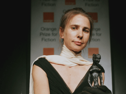 LONDON - JUNE 07: Author Lionel Shriver, writer of We Need To Talk About Kevin, and winner of the Orange Prize For Fiction poses for a photograph after receiving her prize, June 7, 2005 in London. (Photo by Bruno Vincent/Getty Images)