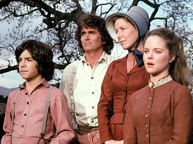 Melissa Sue Anderson, Michael Landon, Karen Grassle, and Matthew Labyorteaux in Little House on the Prairie ( Ed Friendly Productions/NBC, 1974)