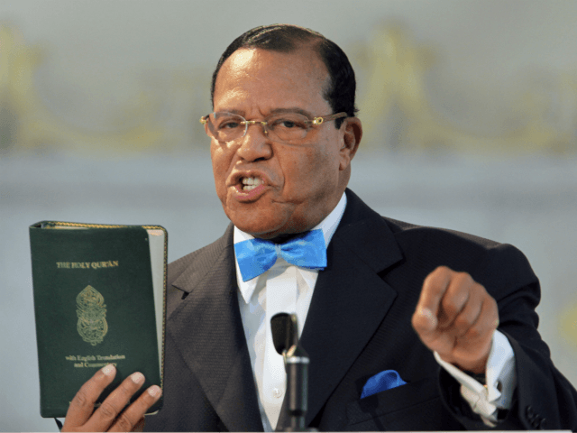 CHICAGO - MARCH 31: Minister Louis Farrakhan, leader of the Nation of Islam, holds a copy of the Quran while speaking at a press conference at Mosque Maryam on March 31, 2011 in Chicago, Illinois. During the press conference Farrakhan expressed support for Libyan leader Moammar Gadhafi and called for …