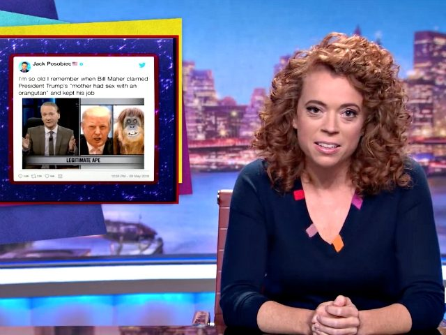 "Netflix talk show host Michelle Wolf weighed in on the controversy surrounding Roseanne Barr's ""Ape"" comparison to Valerie Jarrett by slamming President Donald Trump, who The Break host said isn't as ""accomplished"" as apes."