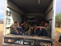 Migrants locked in Box Truck in Southern Arizona - Border Patrol photo