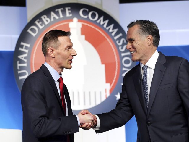 Mike Kennedy and Mitt Romney (Deseret News / Associated Press)