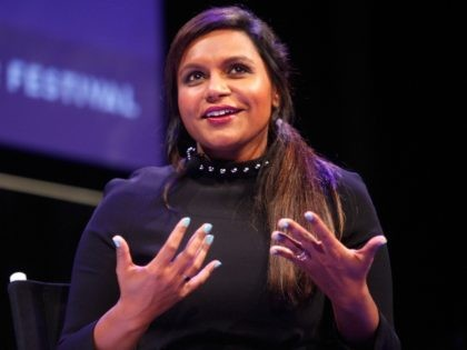 Mindy Kaling participates in a conversation with New Yorker television critic Emily Nussbaum during the New Yorker Festival on October 11, 2014 in New York City. (Photo by Thos Robinson/Getty Images for The New Yorker)