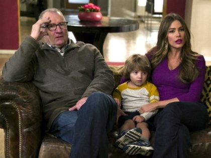 Sofía Vergara, Ed O'Neill, and Jeremy Maguire in Modern Family (ABC, 2009)
