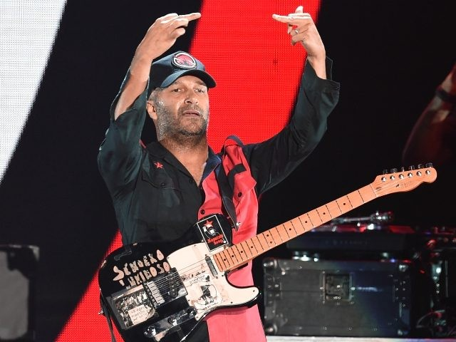 Tom Morello of Prophets of Rage performs onstage at KROQ Almost Acoustic Christmas 2017 at The Forum on December 9, 2017 in Inglewood, California. (Photo by Kevin Winter/Getty Images for KROQ)