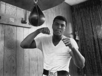 American Heavyweight boxer Cassius Clay (later Muhammad Ali), training in his gym, 21st May 1965. (Photo by Harry Benson/Express/Hulton Archive/Getty Images)