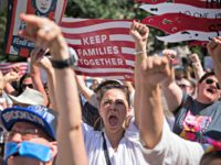 Activists shout during the rally to protest the Trump administration's immigration policies Saturday, June 30, 2018, in New York, New York.