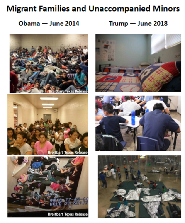 Images published by Breitbart News in 2014 and 2018.