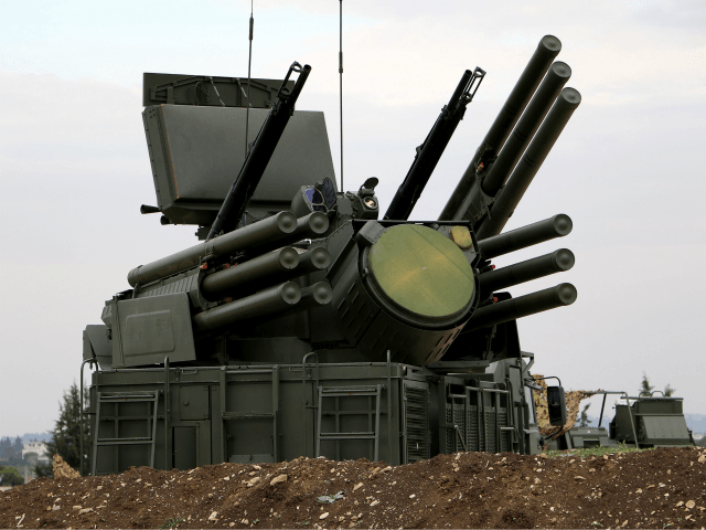 A picture shows a Russian Pantsir-S1 anti-aircraft defence system at the Russian Hmeimim military base in Latakia province, in the northwest of Syria, on December 16, 2015. Russia began its air war in Syria on September 30, conducting air strikes against a range of anti-regime armed groups including US-backed rebels …