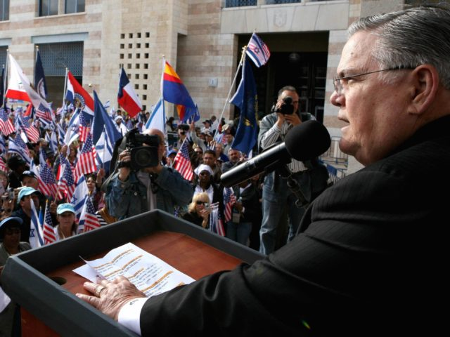 Pastor John Hagee (Gali Tibbon / AFP / Getty)