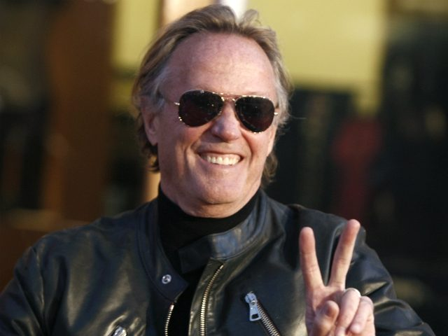 "Peter Fonda arrives at the premiere of ""Fast & Furious"" in Los Angeles on Thursday, March 12, 2009. (AP Photo/Matt Sayles)"