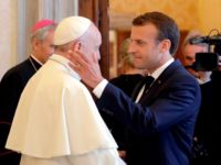Pope Francis with Emmanuel Macron
