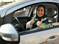 Video: Women Drivers Take to the Road in Saudi Arabia as Ban Lifted