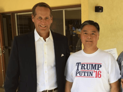 Harley Rouda and Ted Lieu (Facebook)