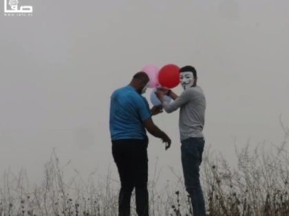 Gazan rioters have added a creative new weapon to their arsenal. Instead of attack kites, young Palestinians have adopted another child's toy to spread fires on Israeli soil: helium balloons.