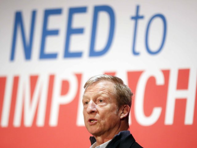 Tom Steyer Need to Impeach (John Minchillo / Associated Press)
