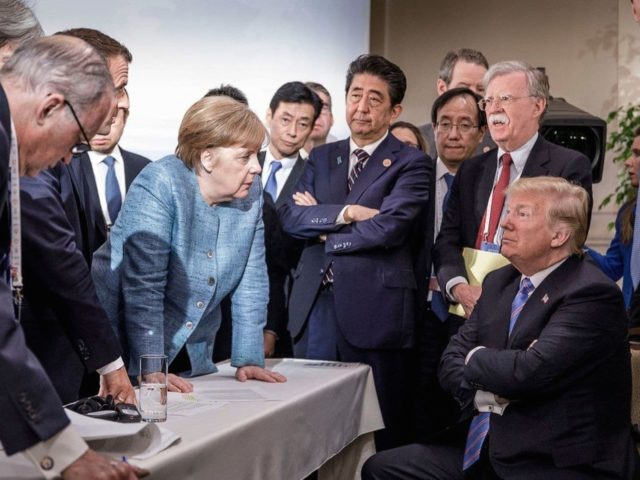 Trump G-7 (Steffen Seibert / German Information Ministry via Washington Post)