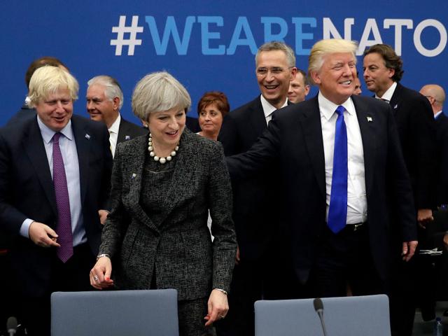Trump May NATO