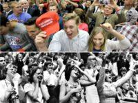 Trump rally crowd, Beatles Concert