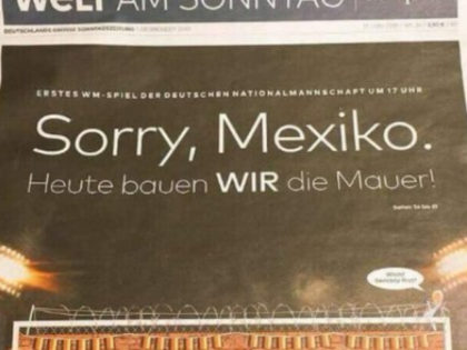 German Newspaper Taunts Mexico with 'Building a Wall' Joke, Then Germany Loses