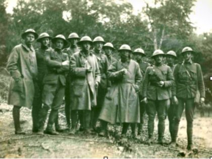 U.S. Marine officers after the battle of Belleau Wood