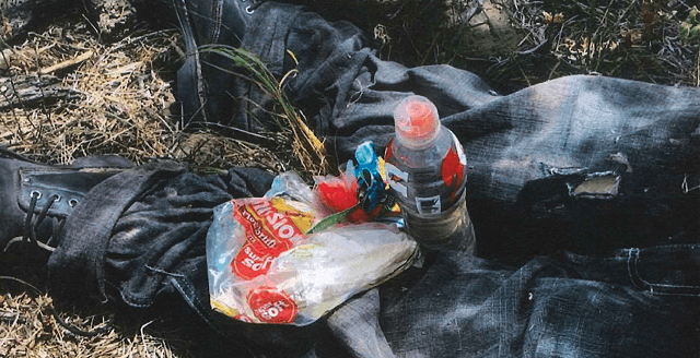 A small supply of food and water left behind with this migrant was apparently not enough to keep him alive. (Photo: Brooks County Sheriff's Office)