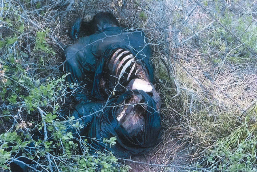Unidentified body of an illegal immigrant found dead near the end of his journey through Brooks County. (Photo: Brooks County Sheriff's Office)