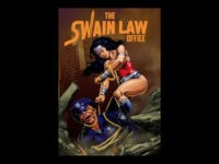 Attorney Sarah Swain, the Democratic nominee for Kansas attorney general, is being criticized within her own Party and is facing pressure to drop out of the race because she displays a poster in her law office of Wonder Woman putting a lasso around a police officer's neck.
