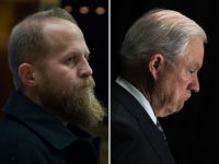 Trump 2020 campaign manager Brad Parscale and U.S. Attorney General Jeff Sessions.
