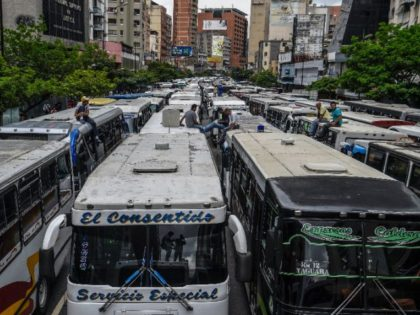 Employers of public transportation block a main avenue in Caracas during a protest due to the shortage in Venezuela of spare parts for their vehicles Employers of public transportation block a main avenue in Caracas during a protest due to the shortage in Venezuela of spare parts for their vehicles …