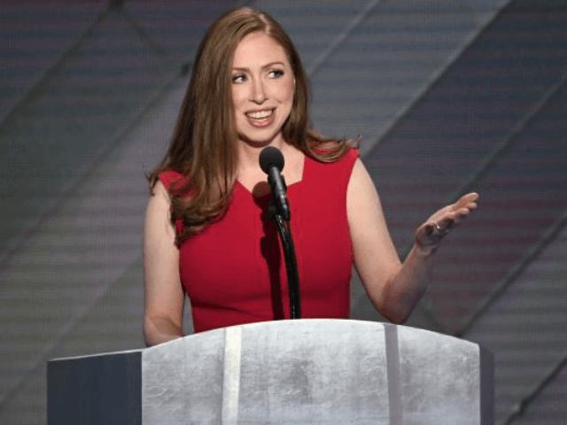 Chelsea Clinton introduces her mother, Hillary Clinton, during day four of the Democratic National Convention on July 28. Clinton has come to the defense of Barron Trump on social media. File Photo by Pat Benic/UPI