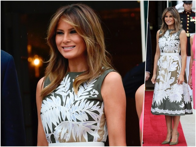 Fashion Notes: Melania Trump Rocks Valentino for Tea with Spanish Royals