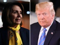 Donald Trump and Nancy Pelosi.