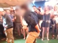 An 0ff-duty FBI agent allegedly dropped his pistol on a dance floor while doing a flip Saturday and accidentally shot an onlooker in the leg.