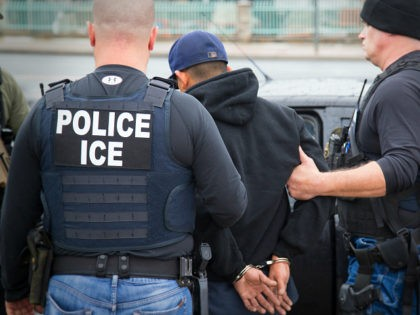 In this Tuesday, Feb. 7, 2017, photo released by U.S. Immigration and Customs Enforcement ICE shows foreign nationals being arrested this week during a targeted enforcement operation conducted by U.S. Immigration and Customs Enforcement (ICE) aimed at immigration fugitives, re-entrants and at-large criminal aliens in Los Angeles. Immigrant advocates on …