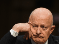 Former Director of National Intelligence James Clapper listens during testimony on May 8, 2017, before the US Senate Judiciary Committee on Capitol Hill in Washington, DC. / AFP PHOTO / JIM WATSON (Photo credit should read JIM WATSON/AFP/Getty Images)
