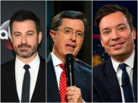 Jimmy Kimmel, Stephen Colbert, and Jimmy Fallon