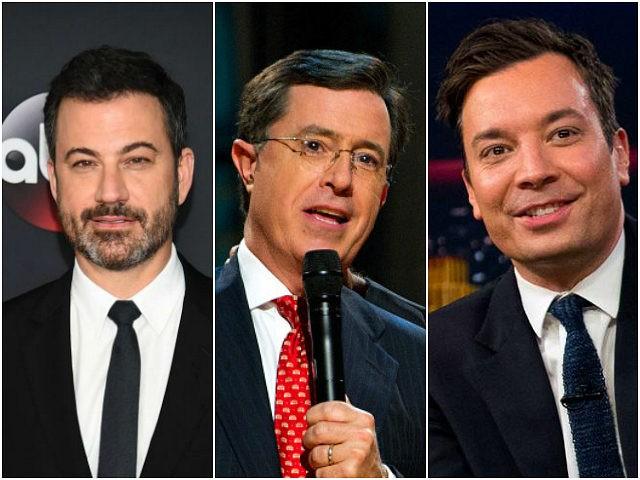Jimmy Kimmel, Stephen Colbert, and Jimmy Fallon