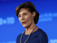"Former first lady Laura Bush speaks Friday, June 23, 2017, during ""Stand-To,"" a summit held by the George W. Bush Institute focused on veteran transition, in Washington. (AP Photo/Jacquelyn Martin)"